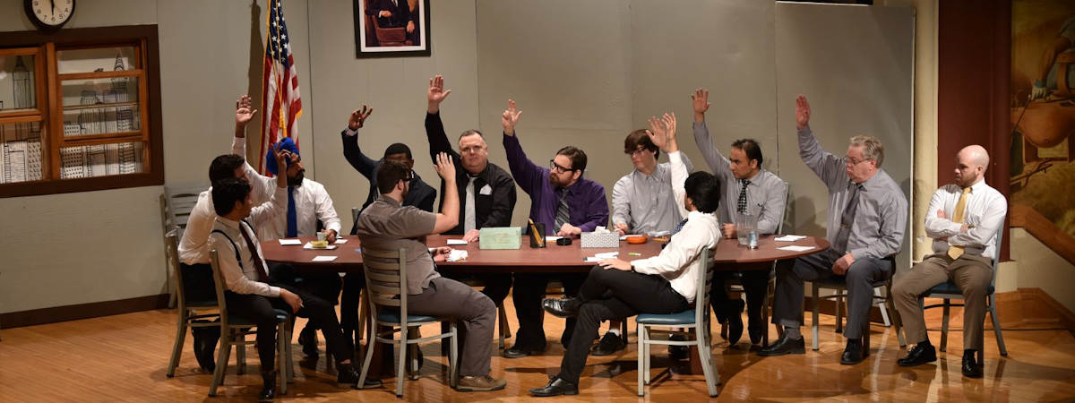 "a scene from ""Twelve Angry Men"" produced March 2018"