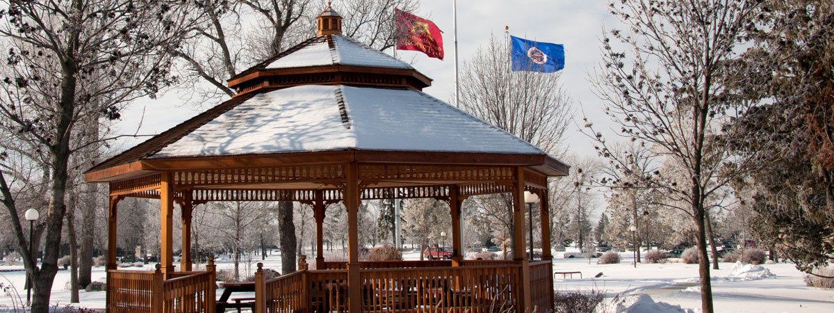Winter time shot of the Gazebo