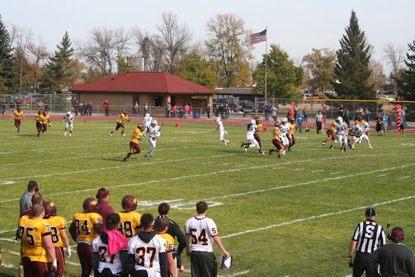 football game at Widseth Field