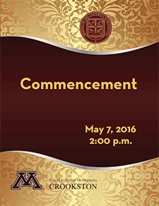 2016 Commencement Program Cover - Click to open PDF