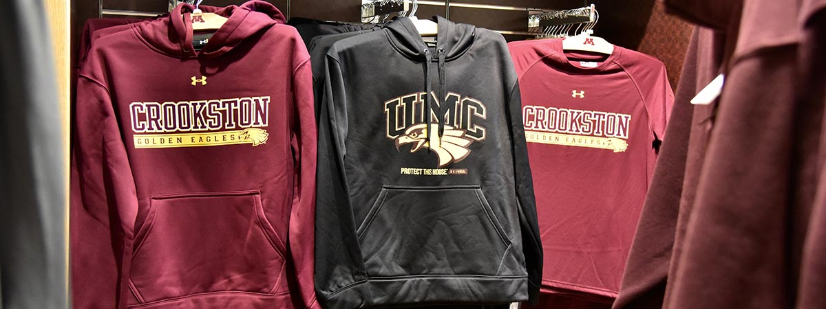 UMC Bookstore clothing selections