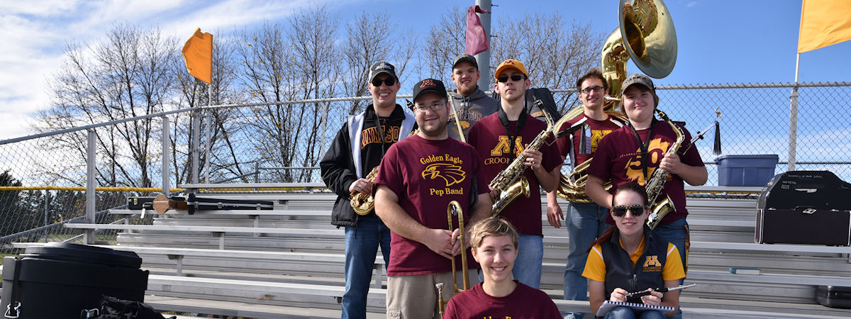 UMC Pep Band at a football game