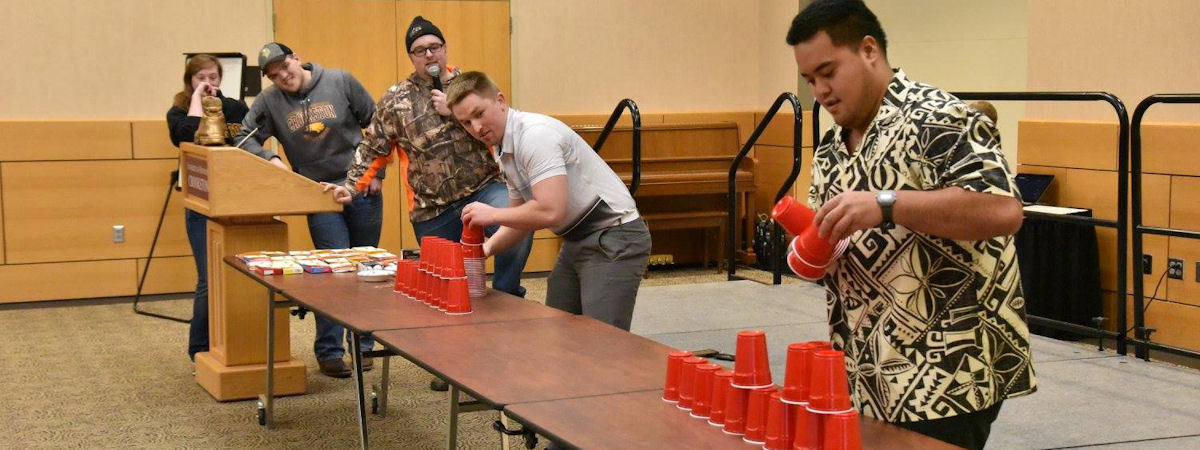 Campus Showdown cup stacking