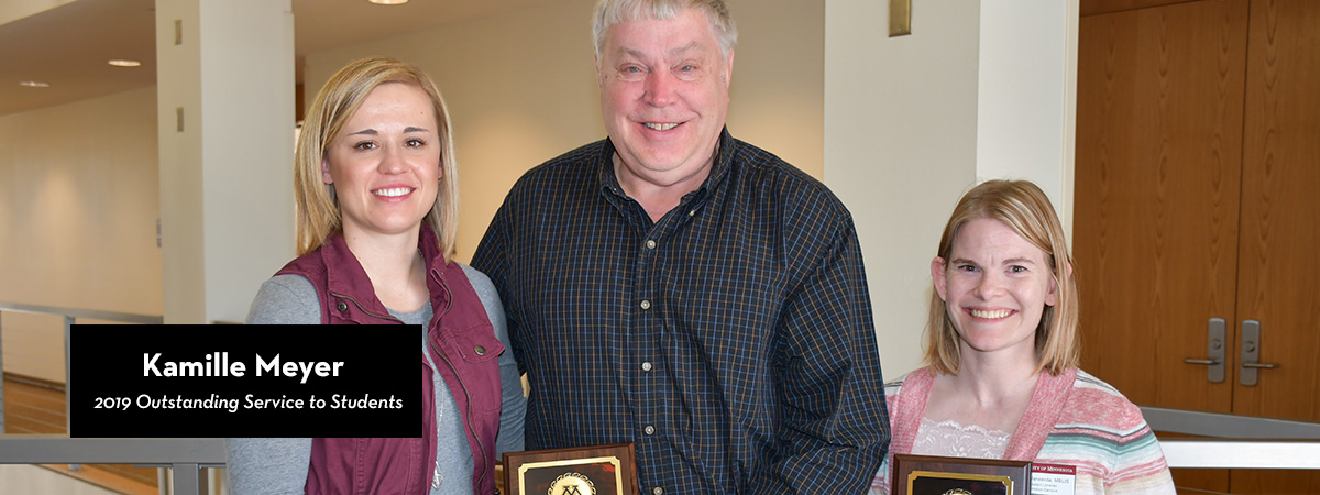 Kamille Meyer, 2019 Outstanding Service to Students Award recipient