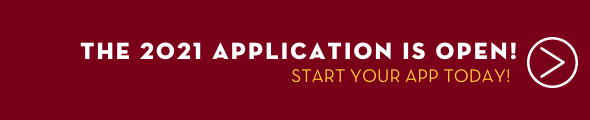 2021Application for Admission is open. Start your app today by clicking this banner!