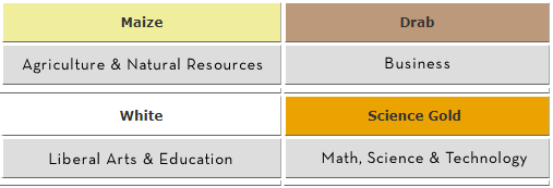 academic department color chart
