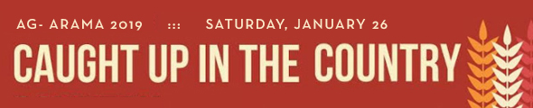 "UMC's 44th Annual Ag Arama is set for Saturday, January 26, 2019. This year's theme is ""Caught Up in the Country"". Click this banner to learn more and see the schedule."