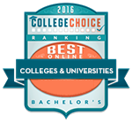 Award Badge Icon for College Choice's Best Online Colleges and Universities 2016