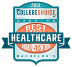 Award Badge Icon for College Choice's Best Online Bachelor's in Healthcare Administration.