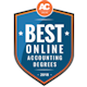 best online accounting degree badge