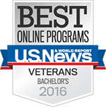 Best Online Bachelor's Programs for Veterans Badge