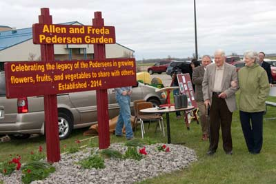 Campus Garden Dedication to Allen and Freda Pedersen