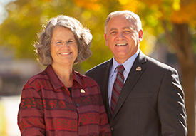 Chancellor Fred Wood and his wife Mary
