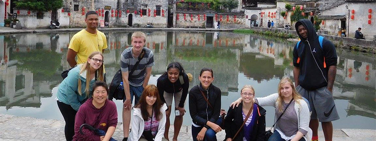 UMC Students in a group picture in China and Japan in 2017.