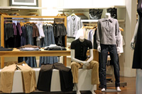 Image of clothes in a department store