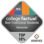 College Factual Top 10% Nationwide for Non-Traditional Students Award Badge