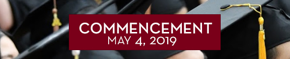 Commencement at the University of Minnesota Crookston will be held on Saturday, May 4, 2019. Click this banner to learn more.