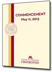 Commencement 2013 Program Image