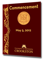 2012 Commencement Program Cover