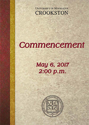 2017 Commencement Program Cover - Click to open