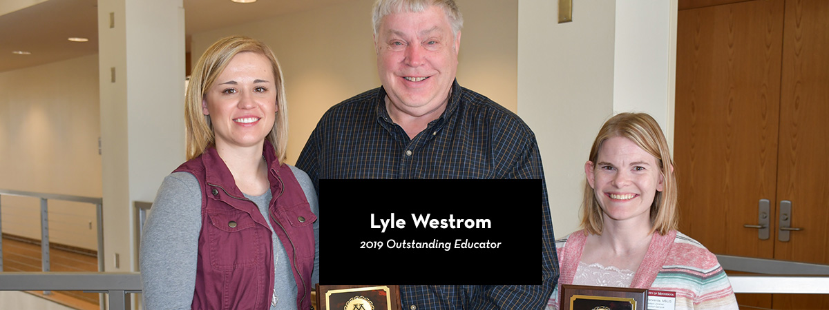 Lyle Westrom, 2019 Outstanding Educator Award Recipient