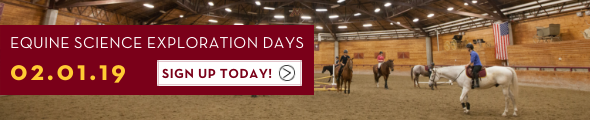 Equine Exploration Days at the University of Minnesota Crookston on February 1 & 2, 2019. Click this banner to learn more!