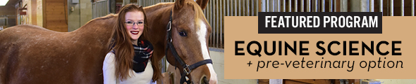 Featured Program - Equine Science with a pre-veterinary option at UMC! Click this banner to learn more!