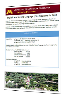 Cover of ESL Handout - Click to download document.