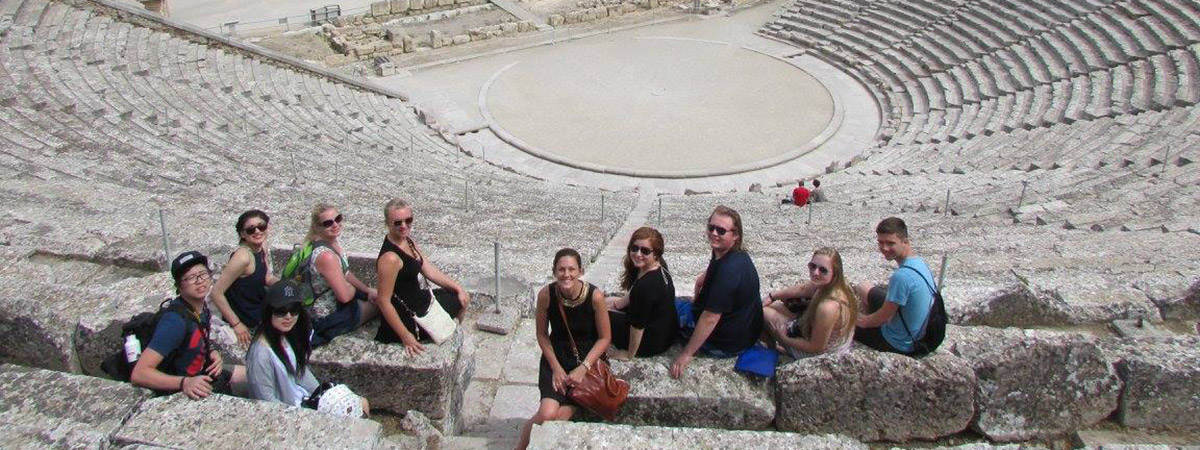 UMC Learning Abroad students in Corinth Greece in 2016