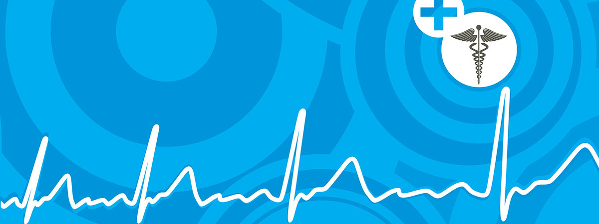 Health Services cover graphic with heartbeat.