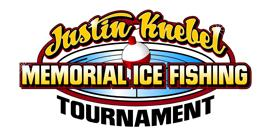 Justin Knebel Memorial Ice Fishing Tournament logo