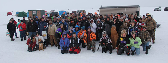 2016 Justin Knebel Ice Fishing Tournament Group Picture