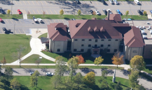 aerial photo of Kiehle Building