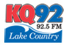 KQ92 92.5 FM Lake Country Logo