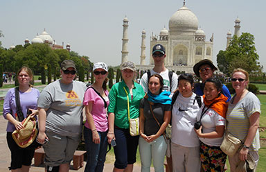 Group of University of Minnesota Crookston students in India in May 2013
