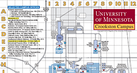 UMC Campus Maps And Buildings University Of Minnesota Crookston - U of a campus map