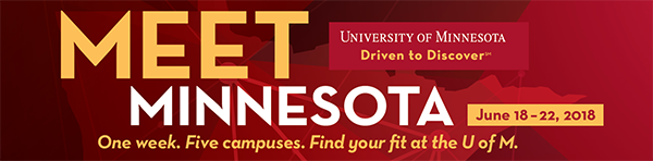 "Click this banner to schedule your special visit at UMC for ""Meet Minnesota"" week June 18 - 22, 2018."