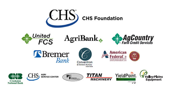 NACTA Judging Conference Sponsors 2016 - CHS Foundation, United FCS, AgriBank, AgCountry Farm Credit Services, Bremer Bank, Crookston Convention & Visitors Bureau, American Federal Bank, Crookston National Bank, CHS Agri Service Center