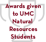 Awards given to UMC Natural Resources Students Logo
