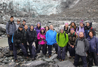 Students on last year's New Zealand and Australia study abroad trip