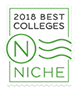 Niche 2018 best colleges badge