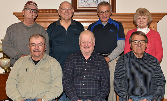 NWSA Board members include (seated left to right): Gary Weiss 1966, Leon Grove 1966, and Ed Grove 1955. Back row from left: Bruce Stromstad 1966, Ken Drees 1965, Willie Huot 1963, and Jan (Klava) Klatt 1966. Not pictured is Bruce Stromstad 1966