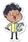 student with clipboard icon