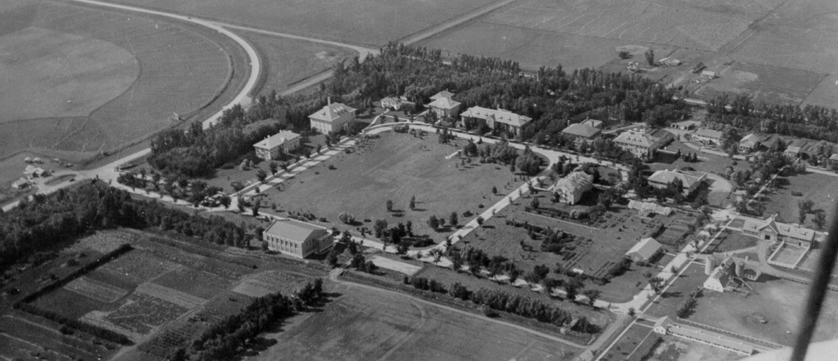 Aerial Shot of Northwest School of Agriculture (UMC) Campus in 1933