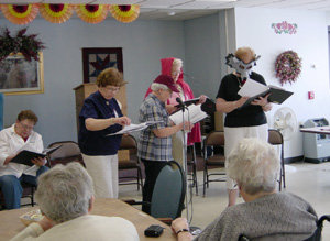RSVP Volunteers performing a skit