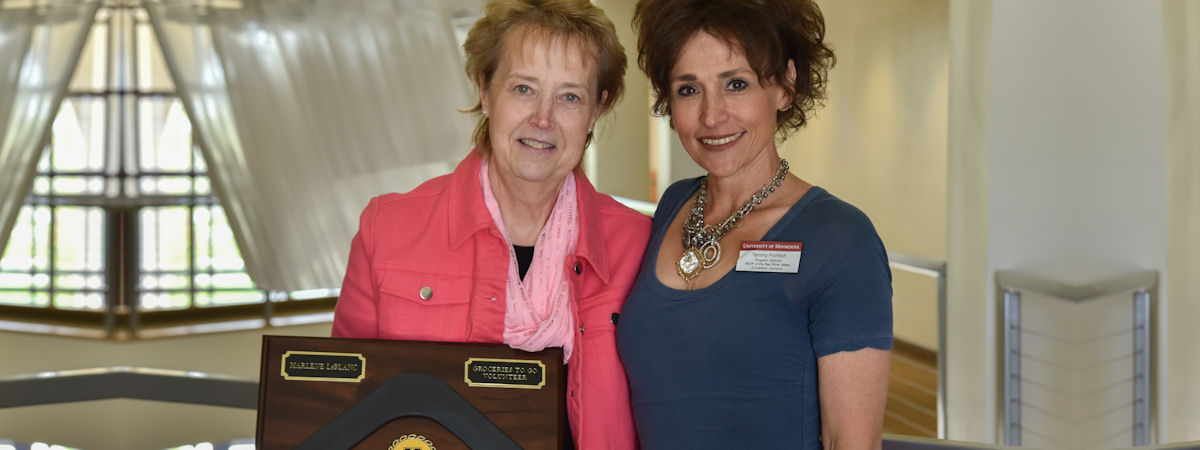 Marlene_LeBlanc, 2017 award recipient, and Tammy Frohlich, presenter.