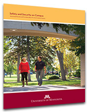 University of Minnesota Crookston Safety and Security Report Cover for 2014, released in September 2015