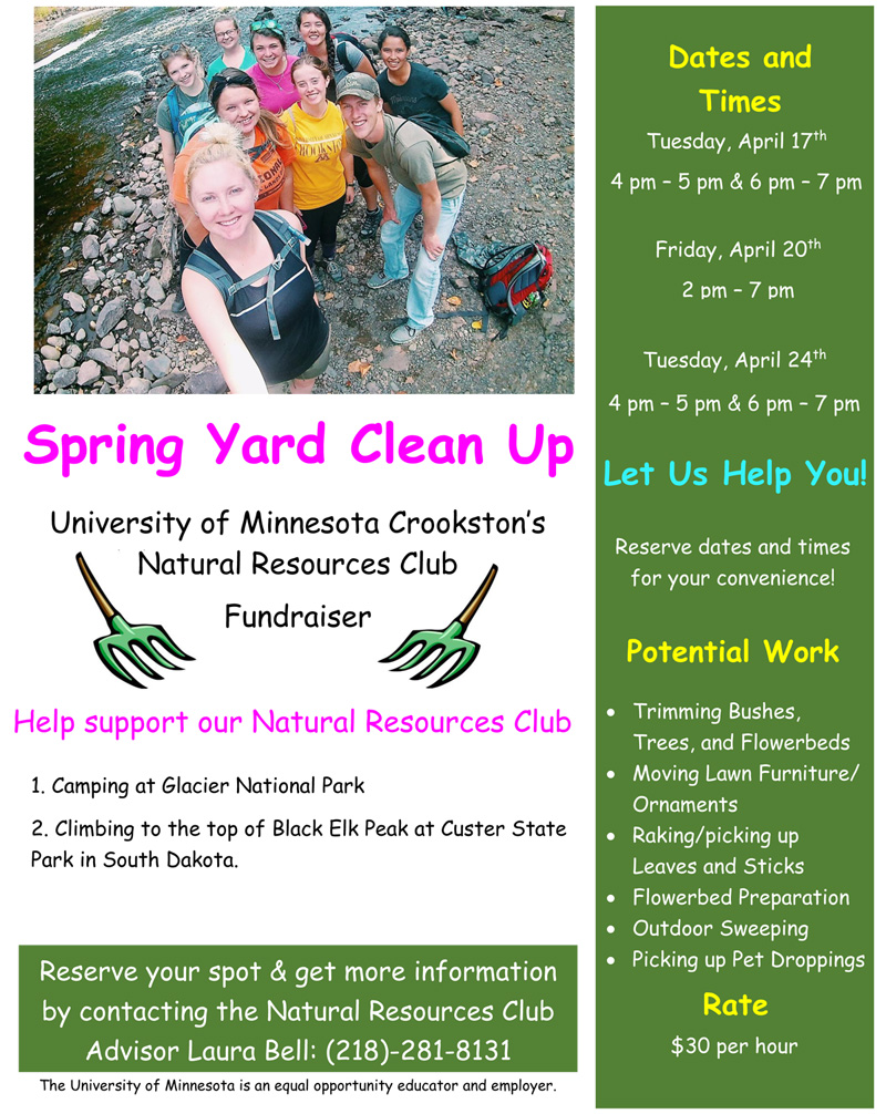spring yard clean up poster