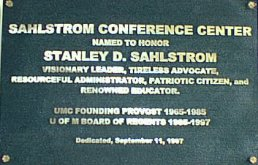 Sahlstrom Conference Center plate