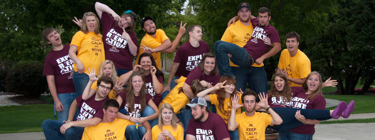 UMC SOS leaders being making silly faces in a group photo.